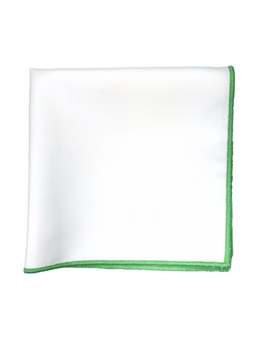 Green Border Pocket Square