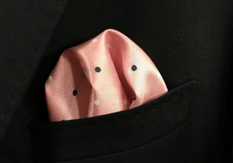 Pink with Polka Dot Pocket Square