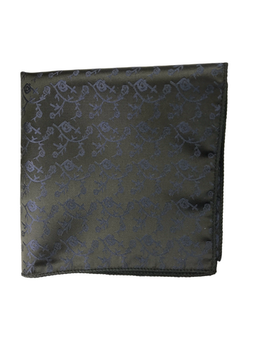 Midnight Floral Pocket Square