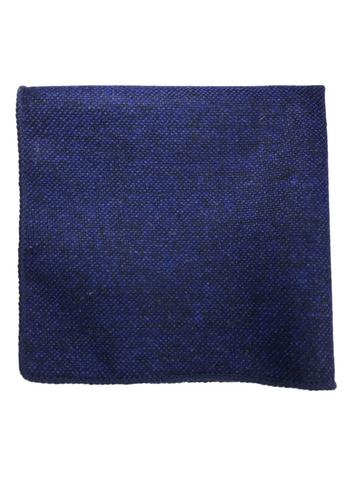 Blue Wool Pocket Square