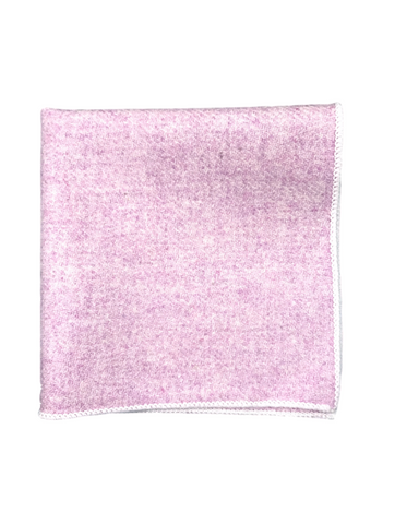 Pink Wool Pocket Square