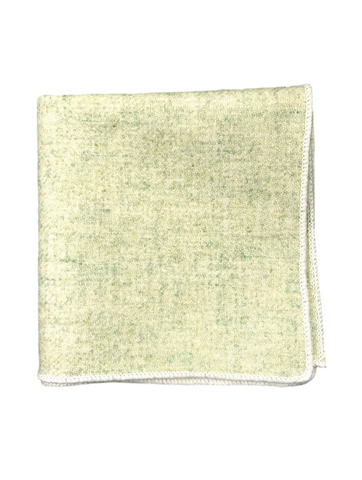 Lime Green Wool Pocket Square