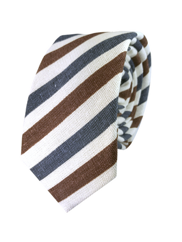 Brown and Navy Candy Stripe