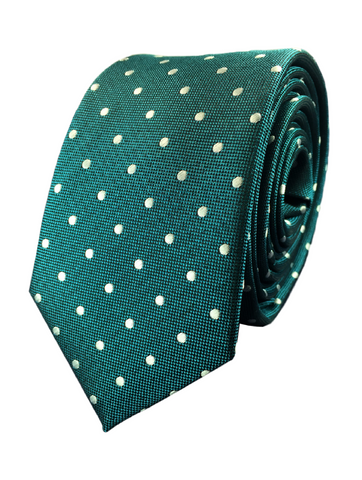 Forest Green Polka Dot