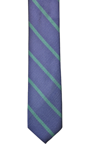Navy with Green Stripe
