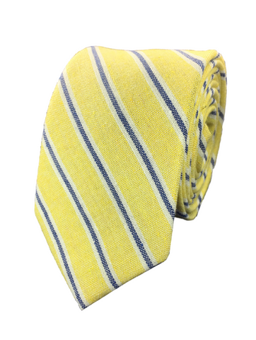 Yellow with Blue Stripe Cotton