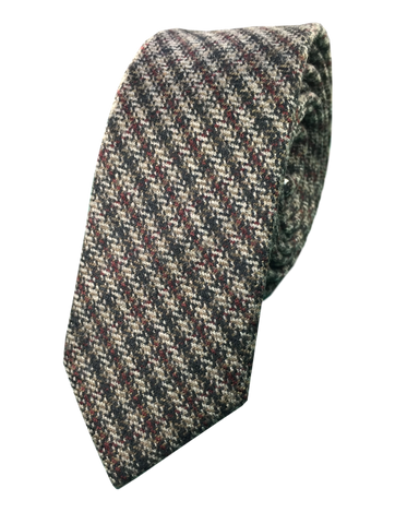 Maroon and Brown Stripe Tie