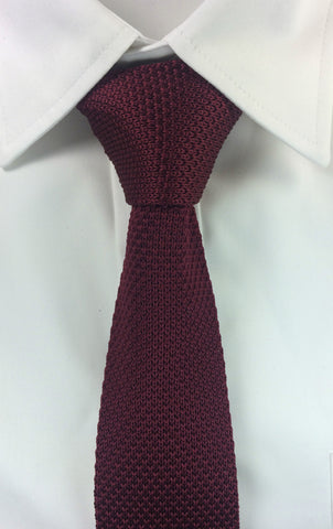 Maroon Knitted Tie