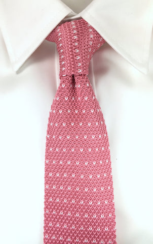 Pink with V-Pattern Knit