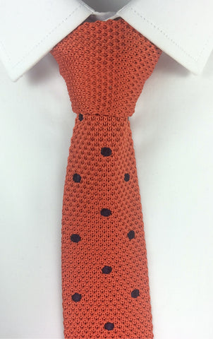 Orange with Black Polka Dot Knit