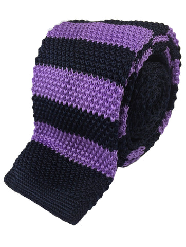 Purple and Black Stripe Knit