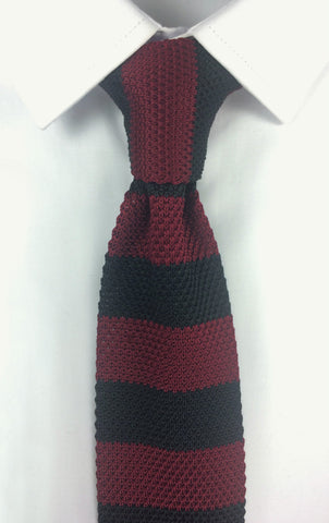 Red and Black Stacked Knit
