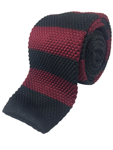 Red and Black Tech Stripe Knit