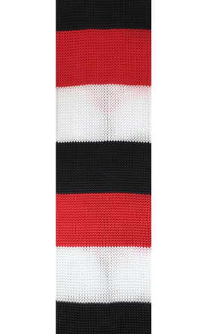Red, Black, and White Stacked Knit