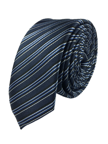 Navy - Blue and White Stripe