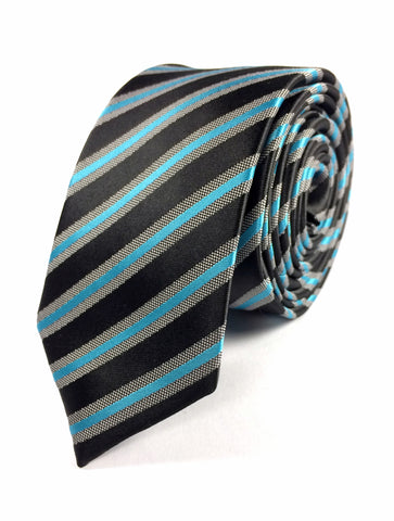 Stripe - Teal/Black