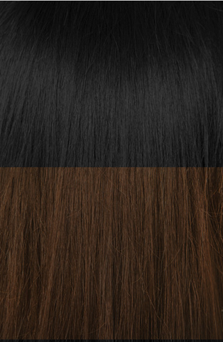"20"" Balayage Clip In Hair Extensions Deluxe Set - #1/4 Ebony Meltdown"