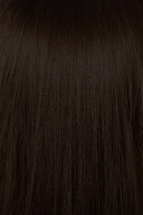 "20"" Remy Human Hair Extensions Weft - #2 Dark Brown"