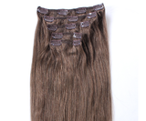 "16"" Clip In Hair Extensions Deluxe Set - #6 Light Natural Brown"