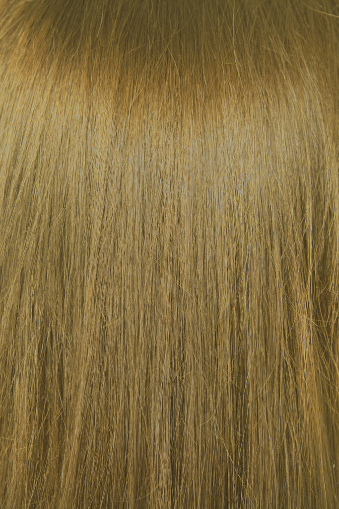 "16"" Clip In Hair Extensions Deluxe Set - #8 Light Golden Brown"