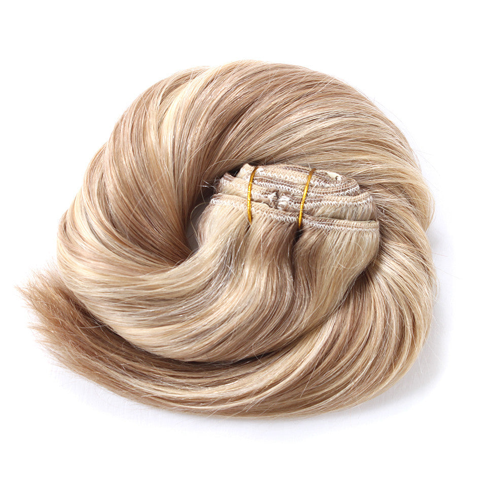 20 Remy Human Hair Extensions Weft 18613 Honey Blonde Mix