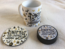 Load image into Gallery viewer, MKL Christmas Mugs, Pucks and Coaster