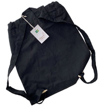 Load image into Gallery viewer, Black Festival-Style Organic Cotton Rucksack