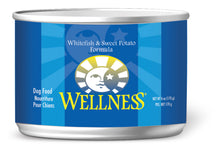 Load image into Gallery viewer, Wellness Complete Health Natural Whitefish and Sweet Potato Recipe Wet Canned Dog Food