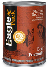 Load image into Gallery viewer, Eagle Pack Natural Beef Formula Wet Canned Dog Food