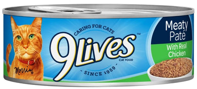 9 Lives Meaty Pate with Chicken Dinner Canned Cat Food