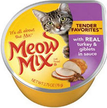 Load image into Gallery viewer, Meow Mix Tender Favorites Real Turkey and Giblets Canned Cat Food