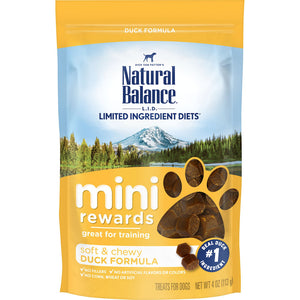 Natural Balance Limited Ingredient Diets Mini Rewards Duck Formula Dog Treats