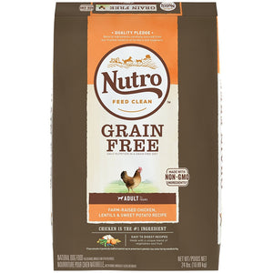 Nutro Grain Free Adult Farm-Raised Chicken, Lentils And Sweet Potato Dry Dog Food