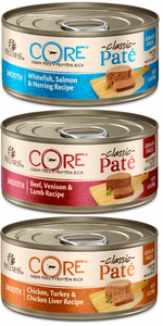 Wellness CORE Natural Grain Free Best Sellers Smooth Pate Variety Pack Canned Cat Food