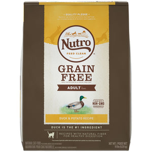 Nutro Grain Free Adult Duck and Potato Recipe Dry Cat Food