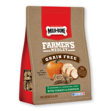 Load image into Gallery viewer, Milk-Bone Farmer's Medley Grain Free Biscuits with Turkey & Pumpkin Dog Treats