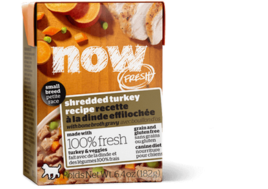 Petcurean NOW! Fresh Grain Free Small Breed Shredded Turkey Recipe Wet Dog Food
