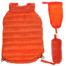 Load image into Gallery viewer, Pet Life Adjustable Orange Sporty Avalanche Dog Coat with Pop Out Zippered Hood