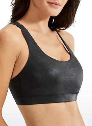 Pattern Free Feeling Strappy Sports Bra Medium Support