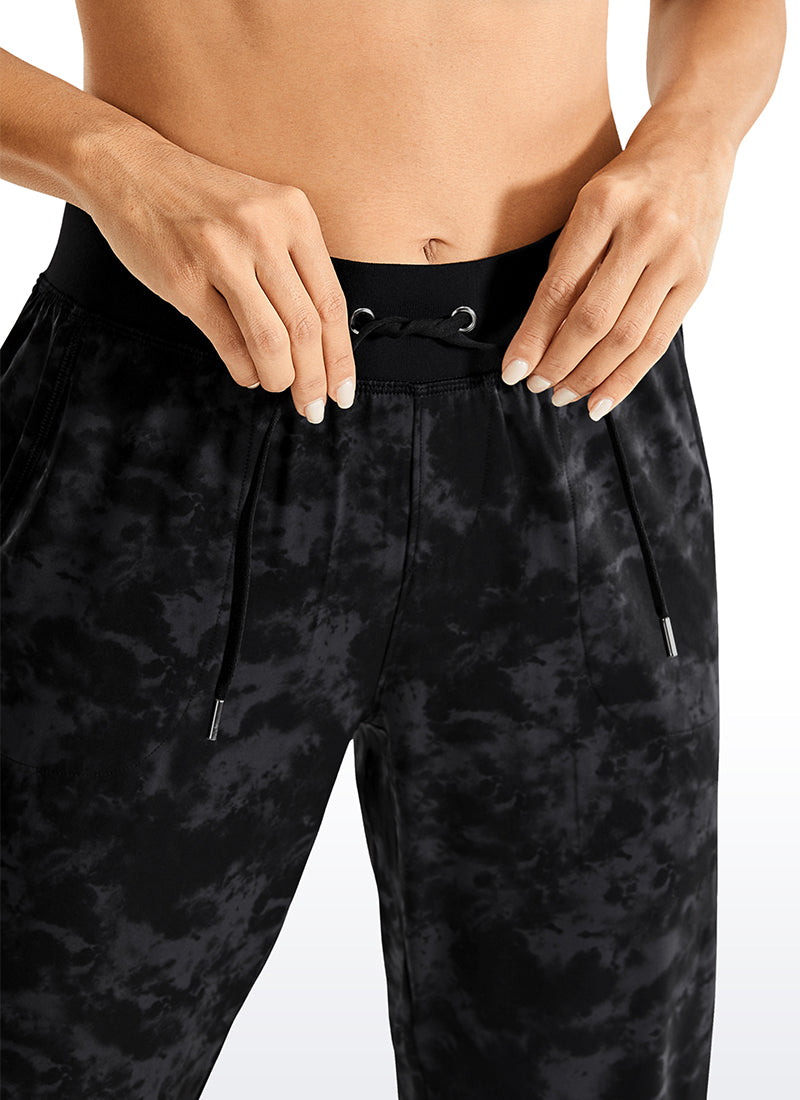 Feathery-Fit Drawstring Jogger with Pockets 27.5''