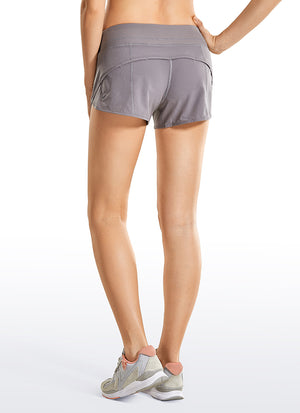 Feathery-Fit Workout Shorts with Flat Waist 2.5''