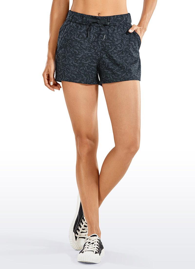 Stretch Drawstring Travel Shorts with Pockets 2.5""