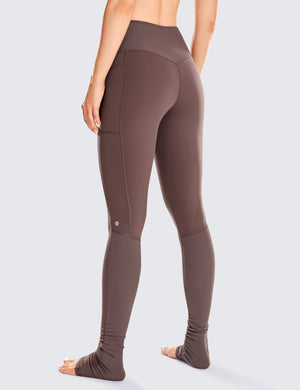 Naked Feeling I Goddess Leggings with Pockets 32''-Extra Long Ribbed