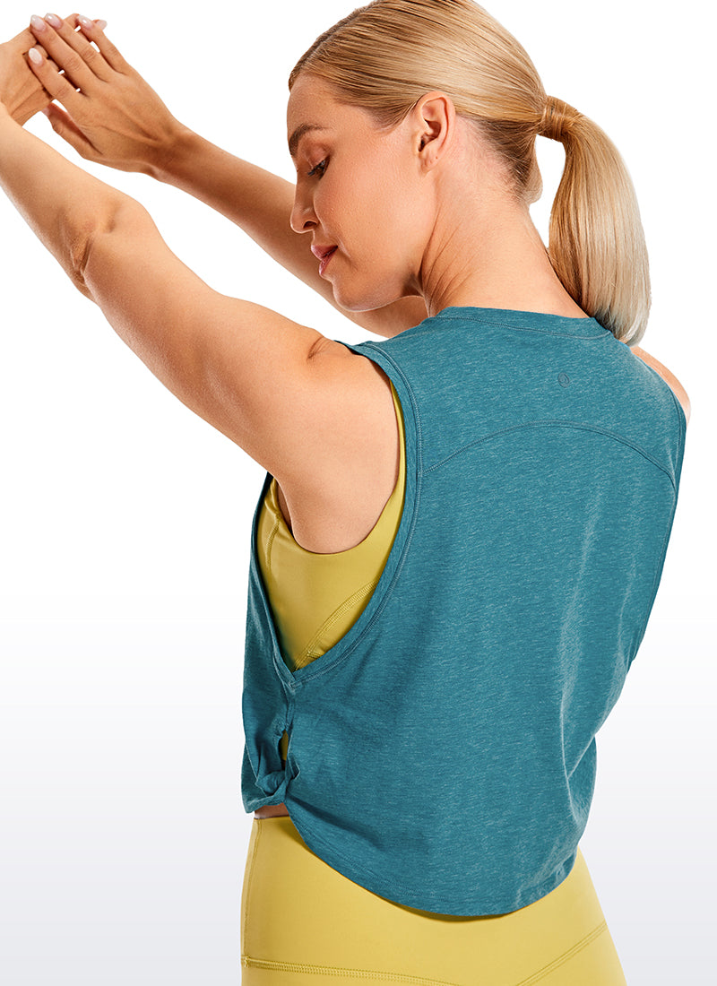 Pima Cotton Crop Tank Big Armhole