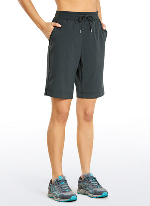 Feathery-Fit Shorts with Pockets 9''