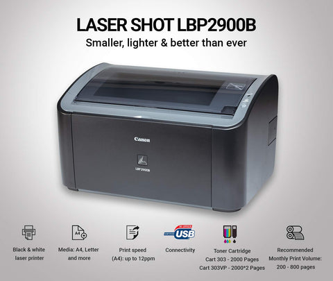Canon imageCLASS LBP2900B Single Function Laser Monochrome Printer (Black)