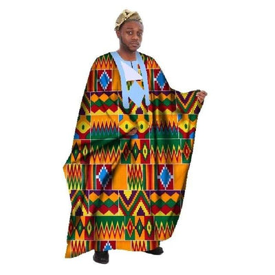 Boubou Africain Homme Multicolore