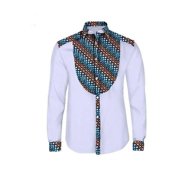 Chemise Africaine Homme A Motif 3D