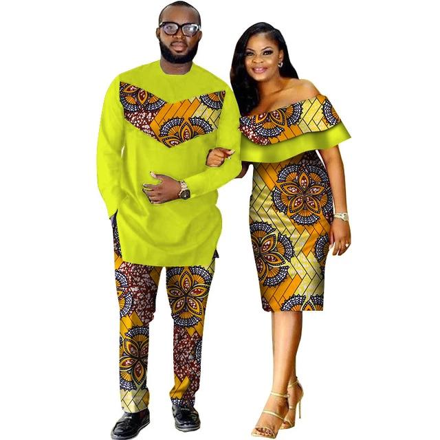 Costume Africain Couple Dashiki floral