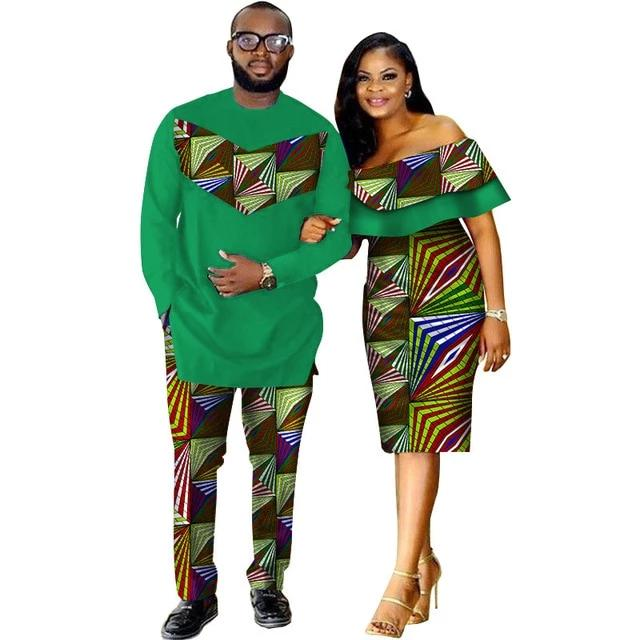 Costume Africain Couple 3D